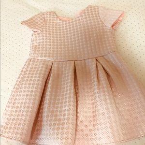 2t pink party dress worn twice VGUC w/ hat!